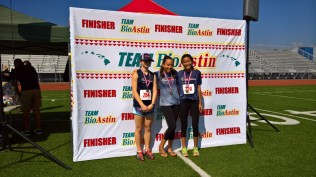 age group 11-14 girls winners