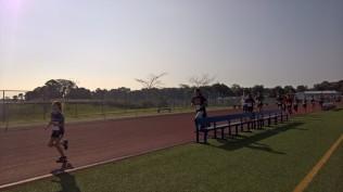 Ela on the track